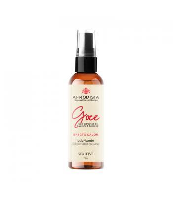 Lubricante Siliconado Natural Afrodisia Goce - Efecto Calor